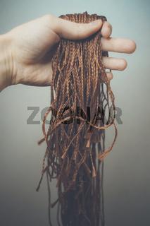 synthetic hair materials for weaving, braiding African braids zizi, Kanekalon