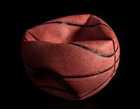 Deflated old basketball