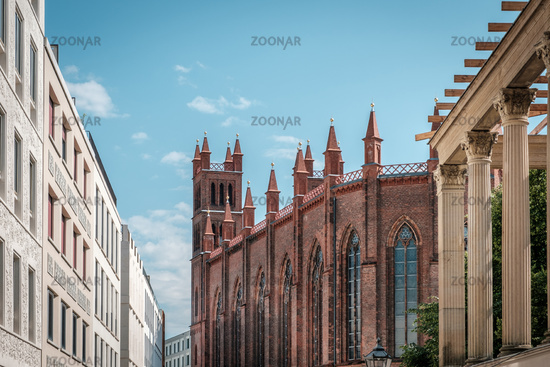 historic architecture, church and modern buildings, real estate in Berlin, Mitte -