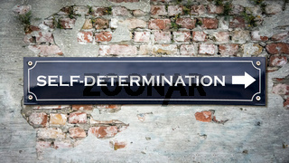 Street Sign to SELF-DETERMINATION