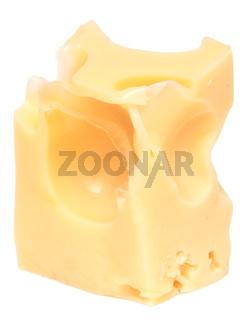 Cheese cube on white