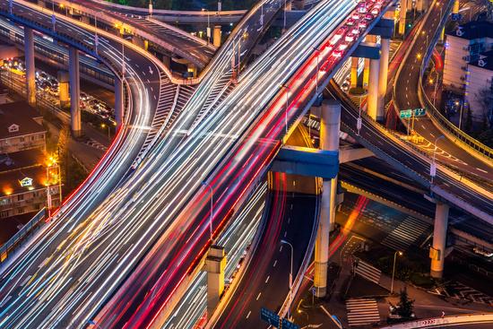 overpass at night