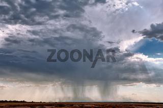 Regenfront im Etosha-Nationalpark, Namibia | heavy rain at Etosha National Park, Namibia