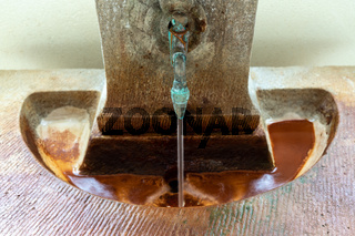 Schmuckbrunnen im Badehaus 2 der Jugendstilanlage Sprudelhof