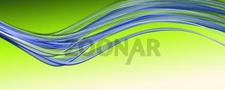 Fantastic eco wave panorama background design illustration