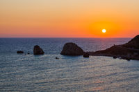 Aphrodite rock at sunset - Paphos Cyprus