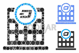 Dash Corporation Building Mosaic Icon of Round Dots