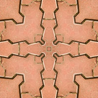 Paving slabs - bksshovnaya texture pattern. Pattern from a photo of terracotta paving slabs.