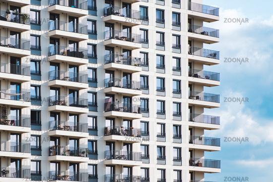 modern apartment building facade - real estate exterior