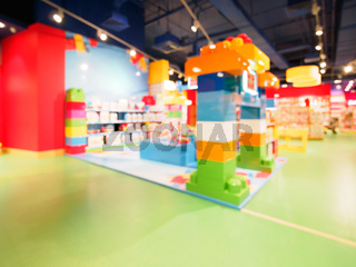 Blurred of kids toy store