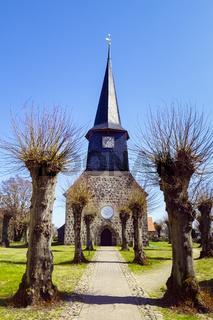 Kirche in Teschendorf, Löšwenberger Land, Brandenburg, Deutschland
