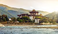 The Punakha Dzong Monastery in Bhutan
