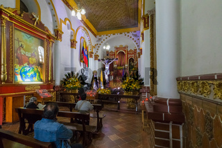 Side chapel of St  John  Baptist church in Pasto Colombia