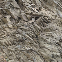 Slate - Surface of a cliff, Harz Mountains, Germany.