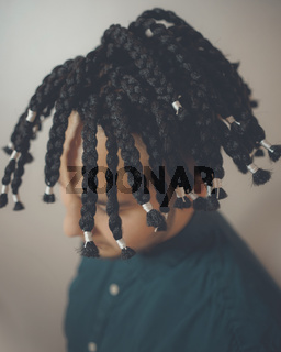 men's hair from thick braids