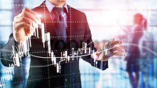 Forex trading, Financial market, Investment concept on business center background.