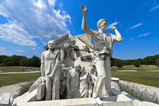 Der Durchbruch-Statue der Europäischen Freiheit,Paneuropäische Picknick,Fertörakos, Ungarn