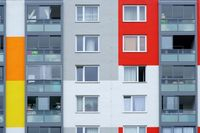 Window multi-storey residential building