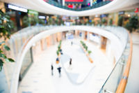 Blurred interior of luxury mall