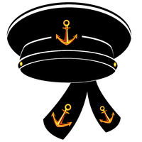 Vector illustration of the service cap of the sailor of the navy
