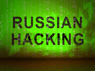Russian Hacker Moscow Spy Campaign 2d Illustration