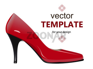 Shoes with stiletto heel isolated on white background.