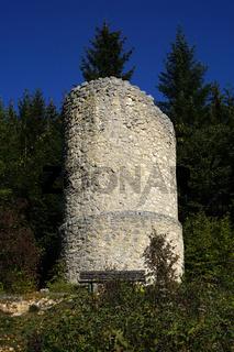 Ruine Hausen im Naturpark Obere Donau