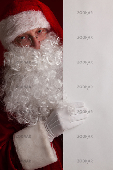 Santa Claus with banner