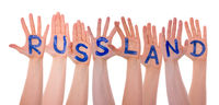 Hands With Russland Means Russia, Isolated