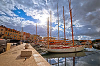 Saint Tropez. Colorful harbor of Saint Tropez at Cote d Azur view