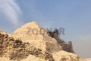 Pyramids of giza. Great pyramids of Egypt. The seventh wonder of the world. Ancient megaliths.