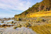 Poel Steilküste - the cliff coast on the island of Poel in Germany