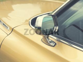 Vintage car sideview mirror