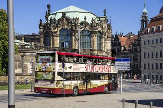 Stadtrundfahrt Dresden, Sachsen, Deutschland