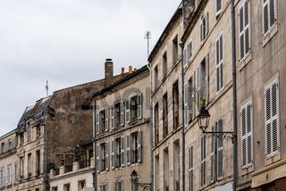 Old residential buildings in La Rochelle, France