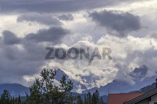 Wolkengebilde im Karwendelgebirge