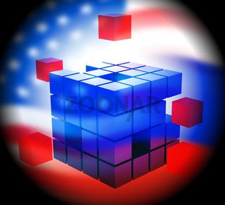 Election Hacking Russian Espionage Attacks 3d Illustration