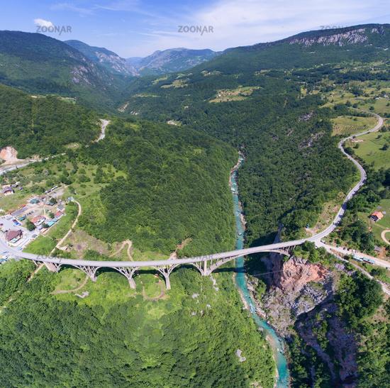 Djurdjevica Tara Bridge in Montenegro