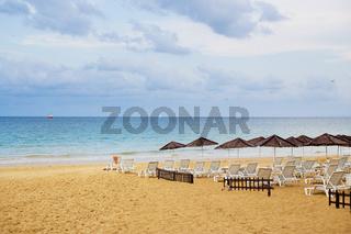 Beautiful summer beaches. bulgaria nessebar