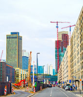 Construction site, urban, Frankfurt, cityscape