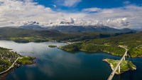 Panorama Beautiful Nature Norway.