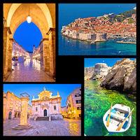 Dubrovnik postcard collage landmarks view