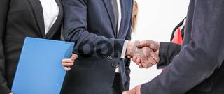 Handshake of business people
