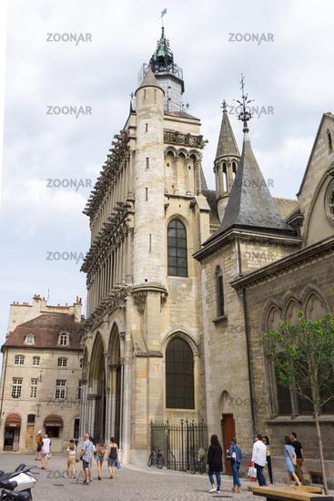 exterior view of facade the  Notre Dame de Dijon church in Dijon