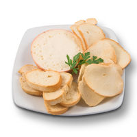 Torta del Casar cheese with slices of toasted bread