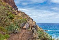 Costal hiking path from Santana to Sao Jorge, Madeira