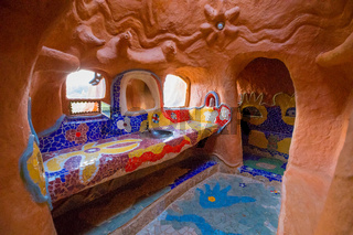 bathroom of the terracotta house Villa de Leyva Colombia