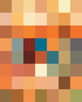 Multicolor Polychrome Mosaic background. Abstract colorful decorative ornate pixel grid pattern.