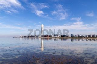 Malmo skyline with Turning Torso skycraper