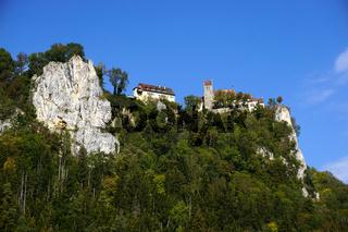 Naturpark Obere Donau bei Beuron-Hausen, Blick zu Schloss Werenwag